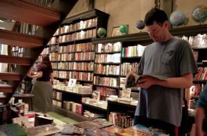 Sérgio na livraria